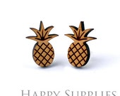 4pcs (SWC151) DIY Laser Cut Wooden Pineapple Charms