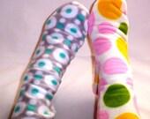 Womens Warm Fleece Socks, Polka Dot Boot Socks, Ladies Socks for Happy Feet,  Bed Socks NO. 203