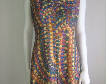 70s vtg psychedelic dress