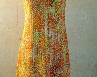 SALE 60s Vintage graphic dress