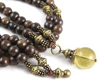 Citrine Mala, Citrine Necklace, 108 Mala, Yoga Gift, Yoga Wear, Yoga Necklace, Mala Beads, Japa Mala, Mala Necklace, Meditation Necklace