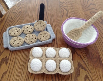 Crochet Cookie Baking Set, Made to Order