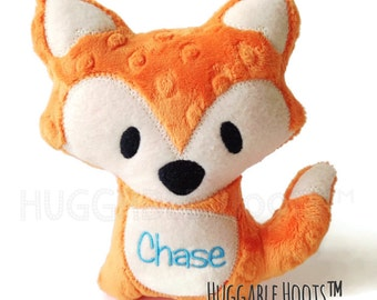 Orange Dot Minky Fox - Woodland, Foxes, Stuffed Animal