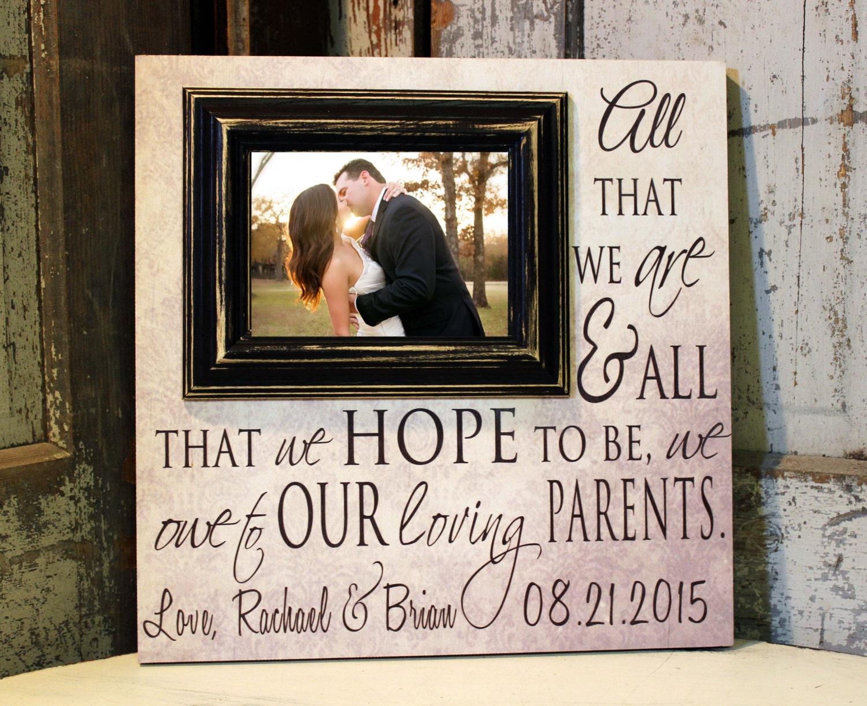 Thank You Wedding Gifts Parents : Wedding Gift for Parents Thank You Parents Wedding Gift