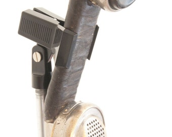 Rusty Industrial Machine Silver Steampunk Telephone Microphone Harmonica Mic Heavy Metal