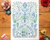 The Secret Garden - Print & Colouring Poster