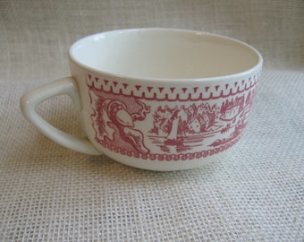 Royal Ironstone Co., Memory Lane Pattern, Red Coffee Cup, Red and White Tea Cup, 1960's, Dinnerware, Serving Piece, Kitchen MyVintageTable