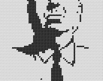 PATTERN: Alfred Hitchcock Cross Stitch