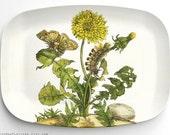 Dandelion melamine platter