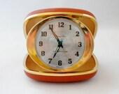 Vintage Travel Alarm Clock, Westclock, Travel Ben Clock in Case