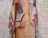 70s Floral Kimono Jacket - Huge Bell Sleeves