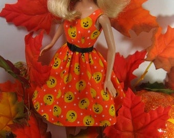 """Fashion Doll Clothes - Halloween Dress for the Modern (with belly button) 11 1/2"""" Fashion Doll - 101"""