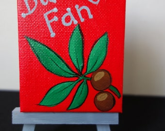 Ohio State Buckeyes Miniature painting with easel