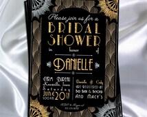The Great Gatsby Theme Invitation // Bridal Shower // Bachelorette Party // Roaring 20's  // Art Deco // Printable!