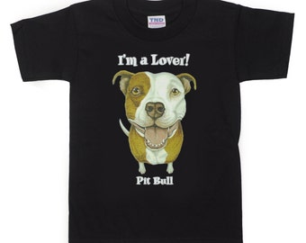 Kids Pit Bull Dog T-Shirt for Kids and Adults (PreSchool, Youth, and Adult Sizes Available)