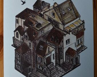 Village - 10x8 Print