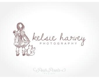 Logo Design (Premade) Cute Logo, Teddy Bear Logo, Whimsical Logo, Hand drawn Logo, Child Logo, Photography Logo, Boutique logo