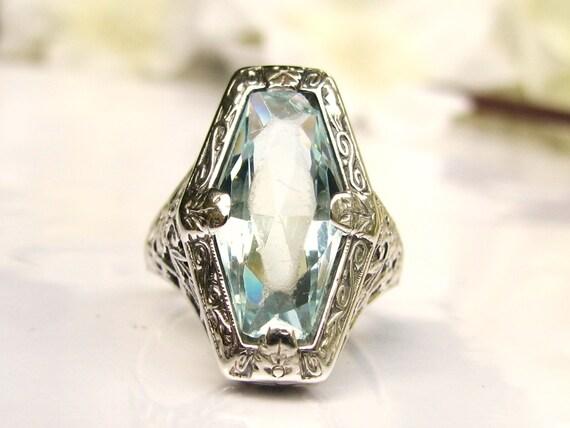 Antique Edwardian Engagement Ring Fancy by LadyRoseVintageJewel