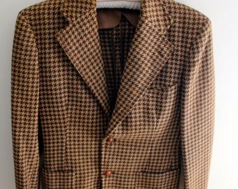 Vintage Brown Tweed Blazer