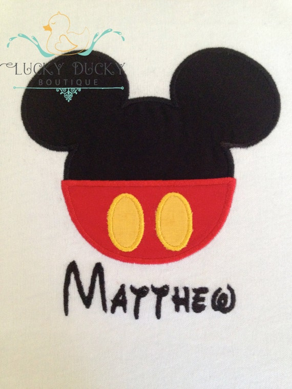 Custom Embroidered Mickey Mouse Shirt Personalized Mouse