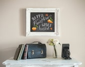 Fall Decor, Fall Decorations, Pumpkin Spice Season Print, Digital Art Print, Printable Wall Art, INSTANT DOWNLOAD, 5x7 AND 8x10