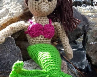 Mermaid crochet PATTERN mermaid instructions amigurumi