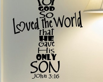 Scripture Wall Decal Scripture Wall Quote Religious Wall - Bible verse wall decals