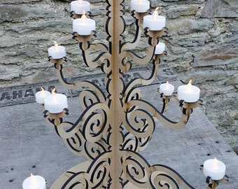 Laser cut Candleabra table decoration