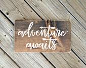 Woodland nursery, woodland nursery decor, adventure awaits, adventure sign, you are our greatest adventure, let's be adventures, woodland