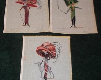 Three needle point ladies