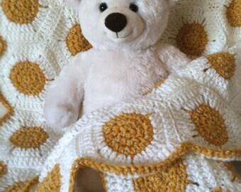 "Baby Blanket 29"" x 30"", Crocheted"