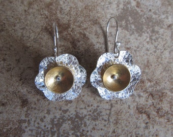 silver/brass daisy dangle