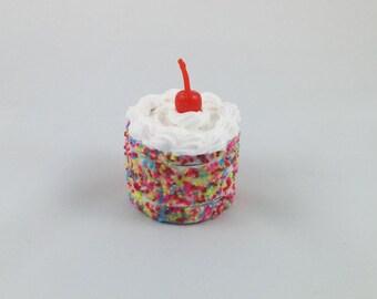 Cake Grinder with Sprinkles and a Cherry on Top, Metal Herb Grinder