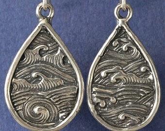 Ocean Waves Whirlpool Sterling Silver Earrings