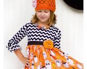 Girls Halloween Knit Dress