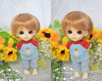 bjd doll boy wig W-3 (3 colors) 1/12 lati white fl pukipuki