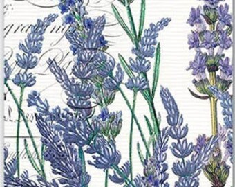 TWO (2) French, Paris,  Lavender Rosemary Paper Hostess Napkins for Decoupage and Paper Crafts