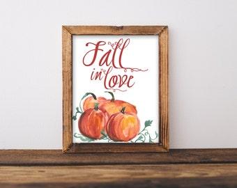 pumpkin print, fall printable, fall decor ,happy fall ,autumn decor, fall home decor, printable art, typography print,  autumn print
