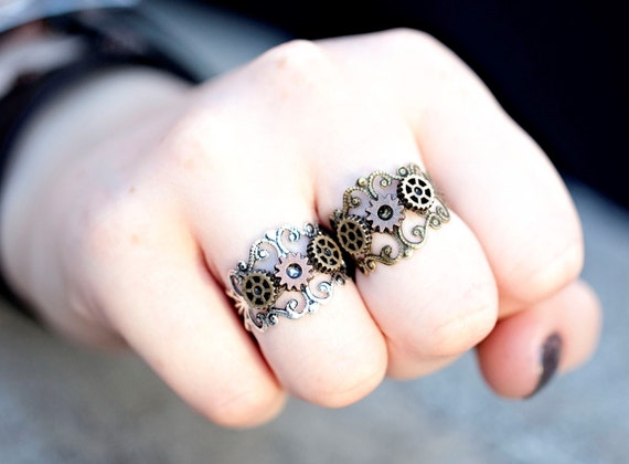 Steampunk Gear and Cogs Ring