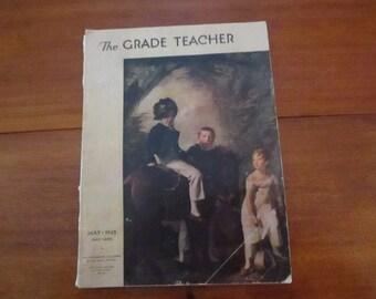 Vintage Magazine The Grade Teacher May 1945 Greyhound Advertising Back to School Young Children's School Activities Ephmera Children's Songs