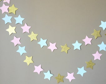 Gender Reveal Twinkle Twinkle Little Star Garland, Baby Shower, Gender Reveal Party Decorations, Cake Smash Banner
