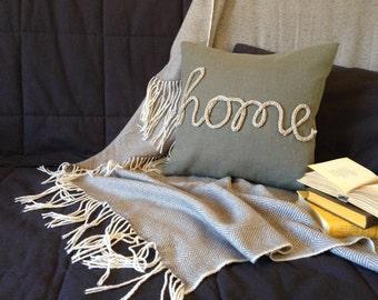 """Home Word Pillow 16""""x16"""" - Text Pillow, Word Pillow, Quote Pillow Cover, Quote Pillow, Quote Pillow Cases, Pillow Cover Quote, Pillow Covers"""