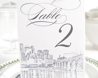Minneapolis Skyline Table Numbers (1-10)