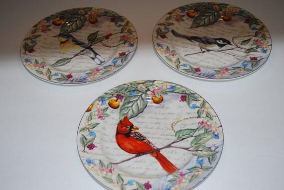 Vintage Bird Plates 45