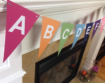 Alphabet Banner || ABC Banner || Bright Colors || Classroom Banner || Gift for Teacher || Classroom Decoration