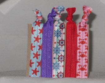 Set of 5 SEASIDE hair tie set