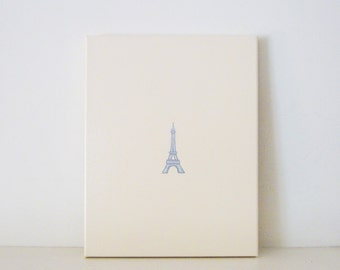 EIFFEL TOWER PAINTING - Paris Eiffel Tower Wall Art - Parisian Room Decor - Eiffel Tower Wall Hanging - Eiffel Tower Decoration - Paris Art