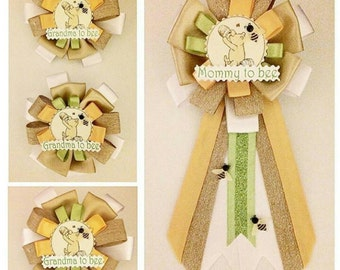 Classic Winnie the Pooh Inspired Baby Shower Corsage Pin