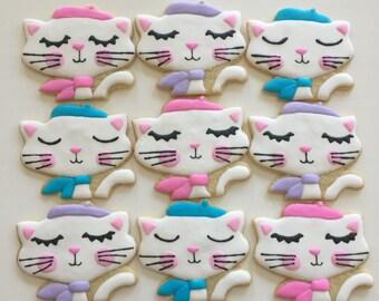 French Kitten Sugar Cookies (one dozen)
