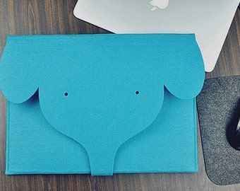 Blue bag ,MacBook Pro 17 ,Felt laptop sleeve, Blue laptop case, 17 inch laptop bag, Macbook pro sleeve, Macbook laptop cover.LD127